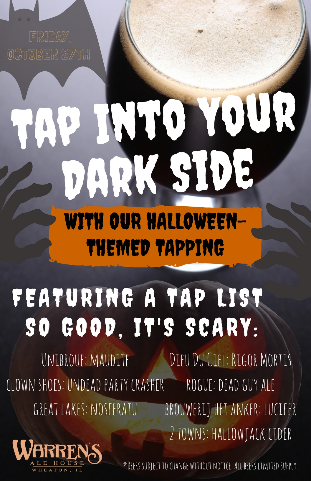Halloween Beer Tapping @ Warren's Ale House   Wheaton   Illinois   United States